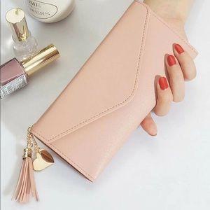 Tassel Decor Fold Over Purse/wallet